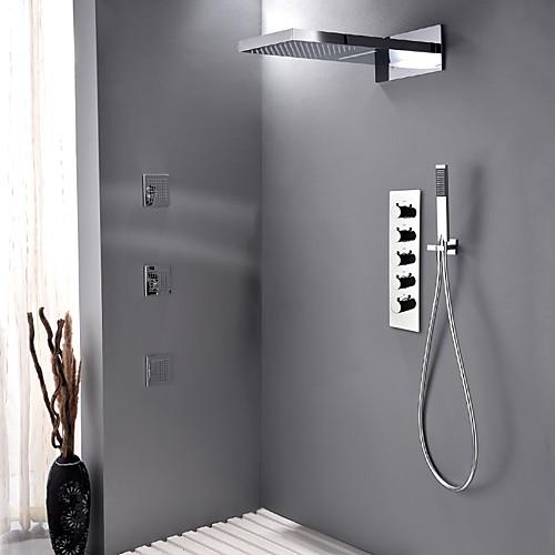 Robinet de douche - Moderne Chrome Système de douche Soupape céramique